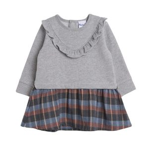 Vestido gris sudadera bebe