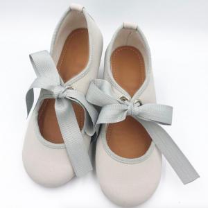 Zapato gris merceditas lazo