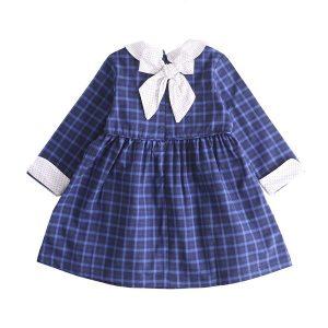 Parte atras vestido azul