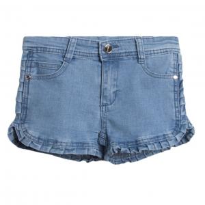 shorts mezclilla volantes