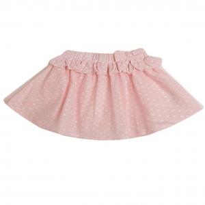 falda rosa corazones blancos
